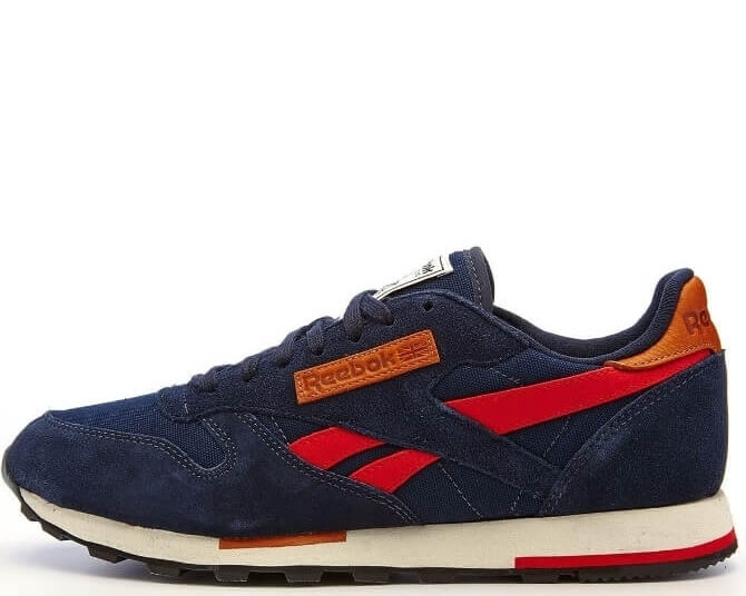 "Кроссовки Reebok CL Leather Utility ""Blue/Red"""