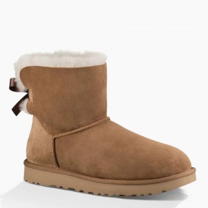 "UGG MINI BAILEY BOW II BOOT ""CHESTNUT"" 1"