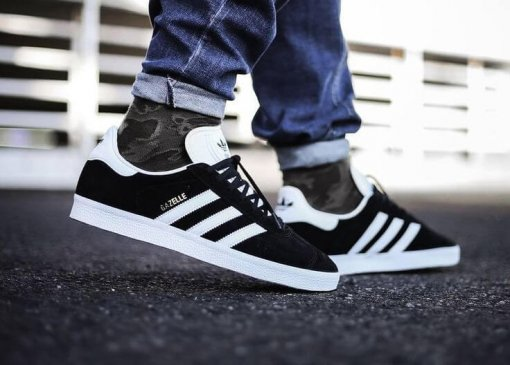 "Кроссовки Adidas Gazelle ""Black/White"" 3"